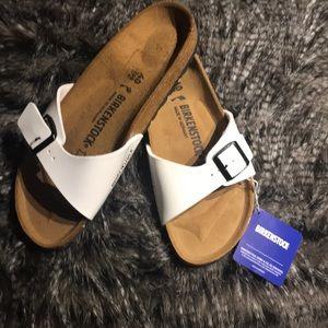 832223d62f7a Birkenstock white sandals size 40